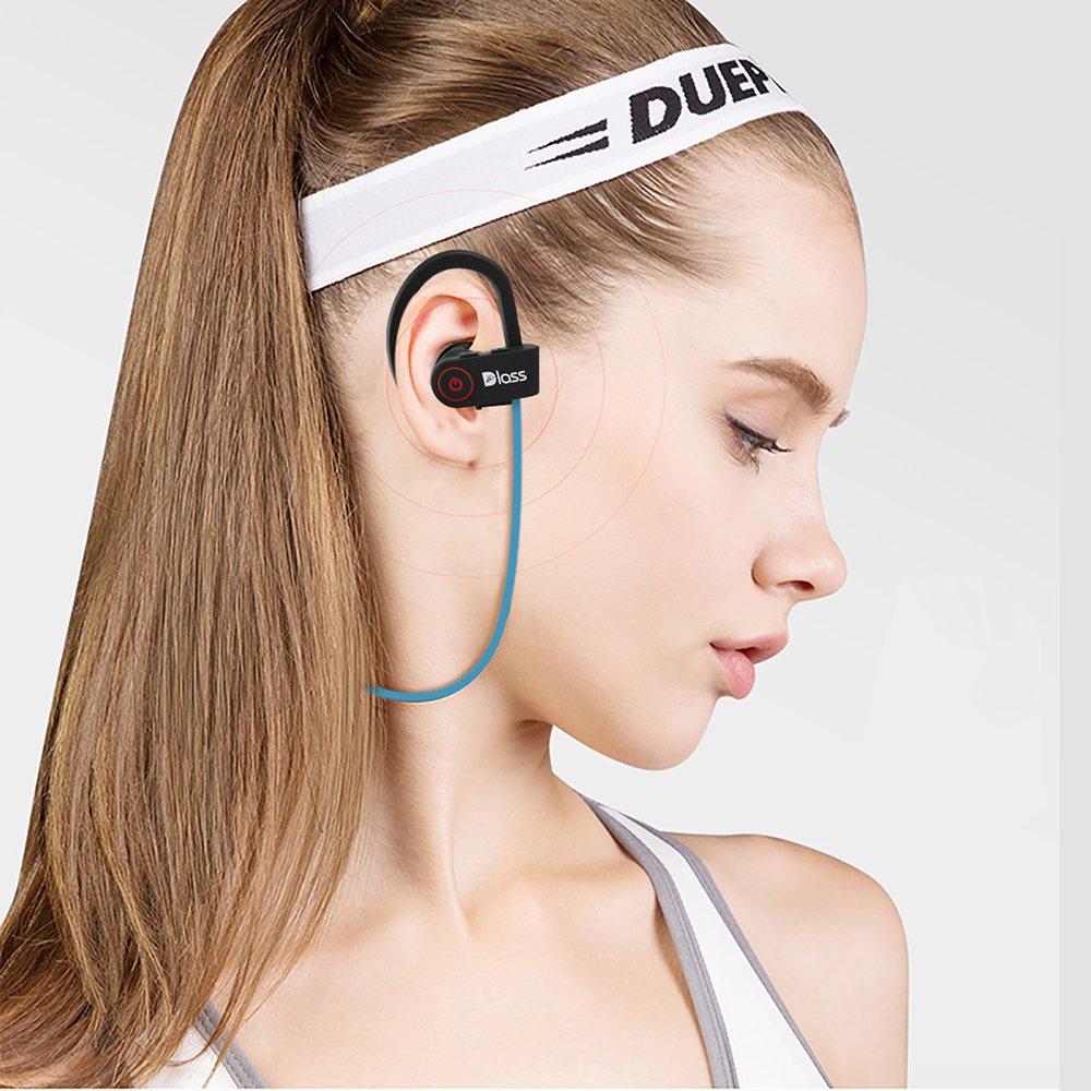 Amazon.com: Dlass Wireless Headphones,Sports Bluetooth Earphones with w/Mic IPX7 Waterproof and HD Stereo Sweatproof In Ear Headsets for Apple Iphone X 8 7 ...