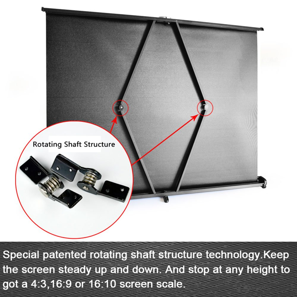 3/Portable Projection Screen for Projector DLP Projector Handheld Docooler 40/inch Manual Pull Up Projection Screen High Definition Table Folding Aspect Ratio 4