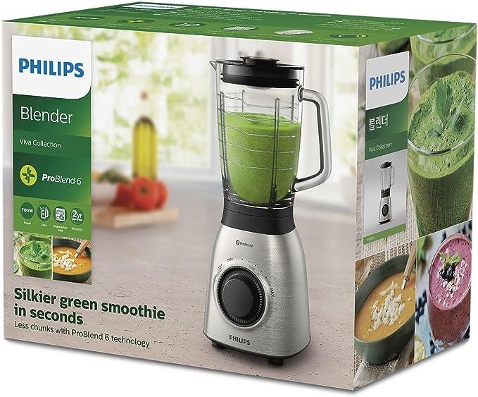 Philips Batidora de Vaso HR3555/00 900w, Capacidad 2l, 900 W, 2 ...