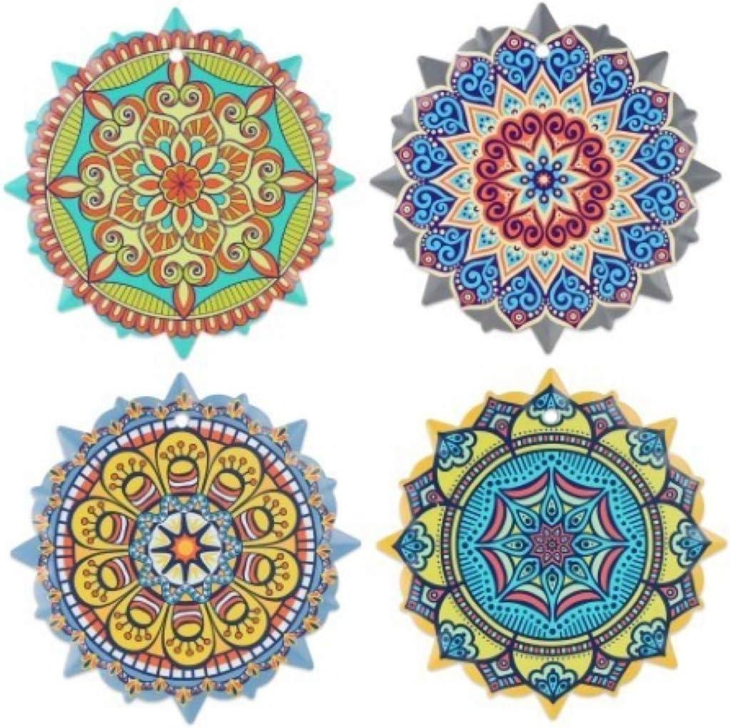 Vidal Regalos Set 4 Untersetzer Mandala Keramik 18 Cm Küche Haushalt