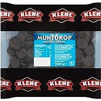 Klene Muntdrop, milde en zoete drop – 6 zakken, inhoud van 1 kg harde drop in muntvorm