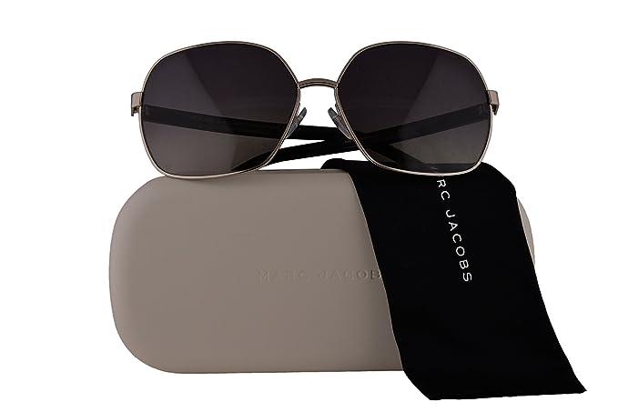 b4d19f70c7 Image Unavailable. Image not available for. Colour  Marc Jacobs Authentic  Sunglasses Marc65S Palladium Black w Polarized Grey Gradient Lens 84JWJ  Marc 65S