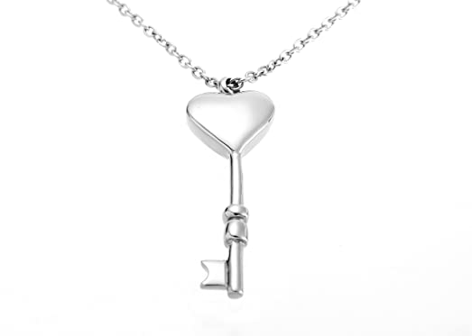 Amazon key heart cremation urn pendant ashes memorial necklace key heart cremation urn pendant ashes memorial necklace grade key heart aloadofball Gallery