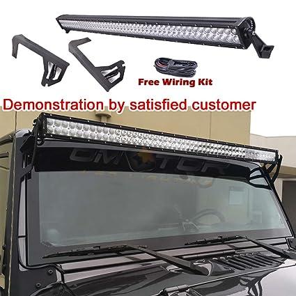Amazoncom Omotor Light Bar 0715 Jeep Wrangler Jk 4door