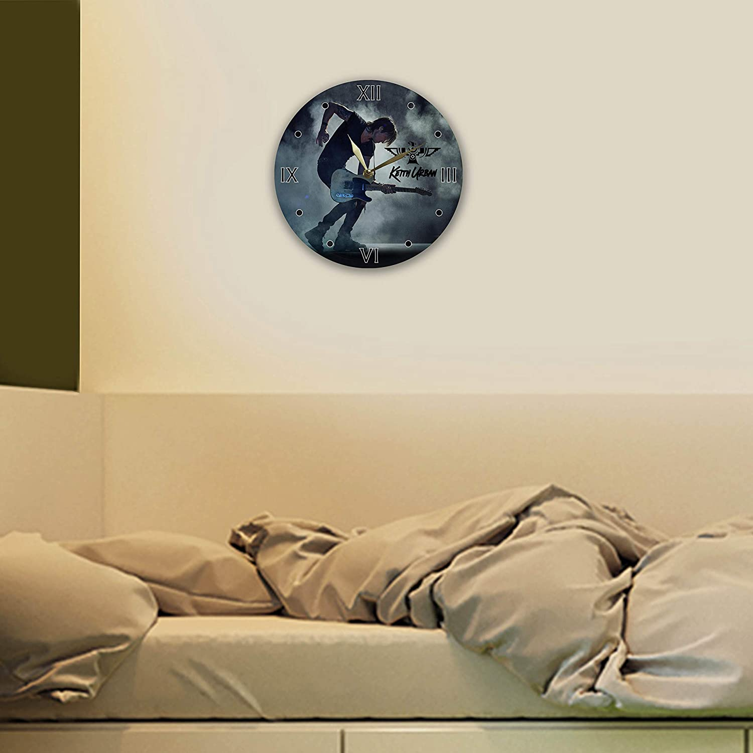 Keith Urban Painted Vinyl Clock 12 The Best Home Decor Unique Gifts for Fans Keith Urban Best Gift for Country Music Lover Wall Clock Keith Urban