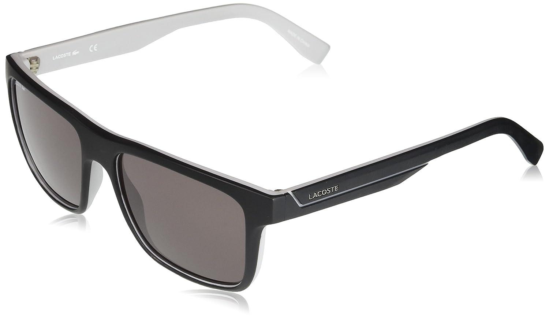 a5461822d0a7 Amazon.com  Lacoste Men s L876s Plastic Square Stripes   Piping Sunglasses