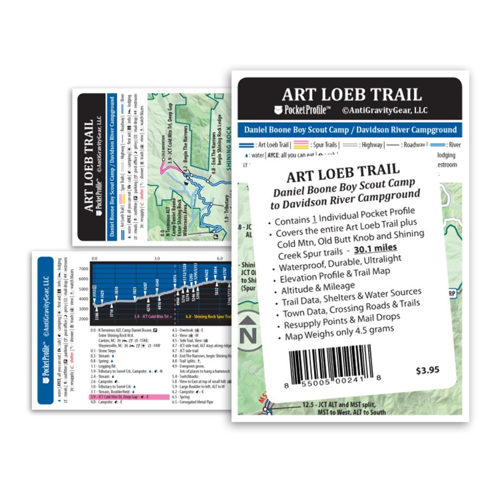 Art Loeb Trail (ALT) Pocket Profile Map