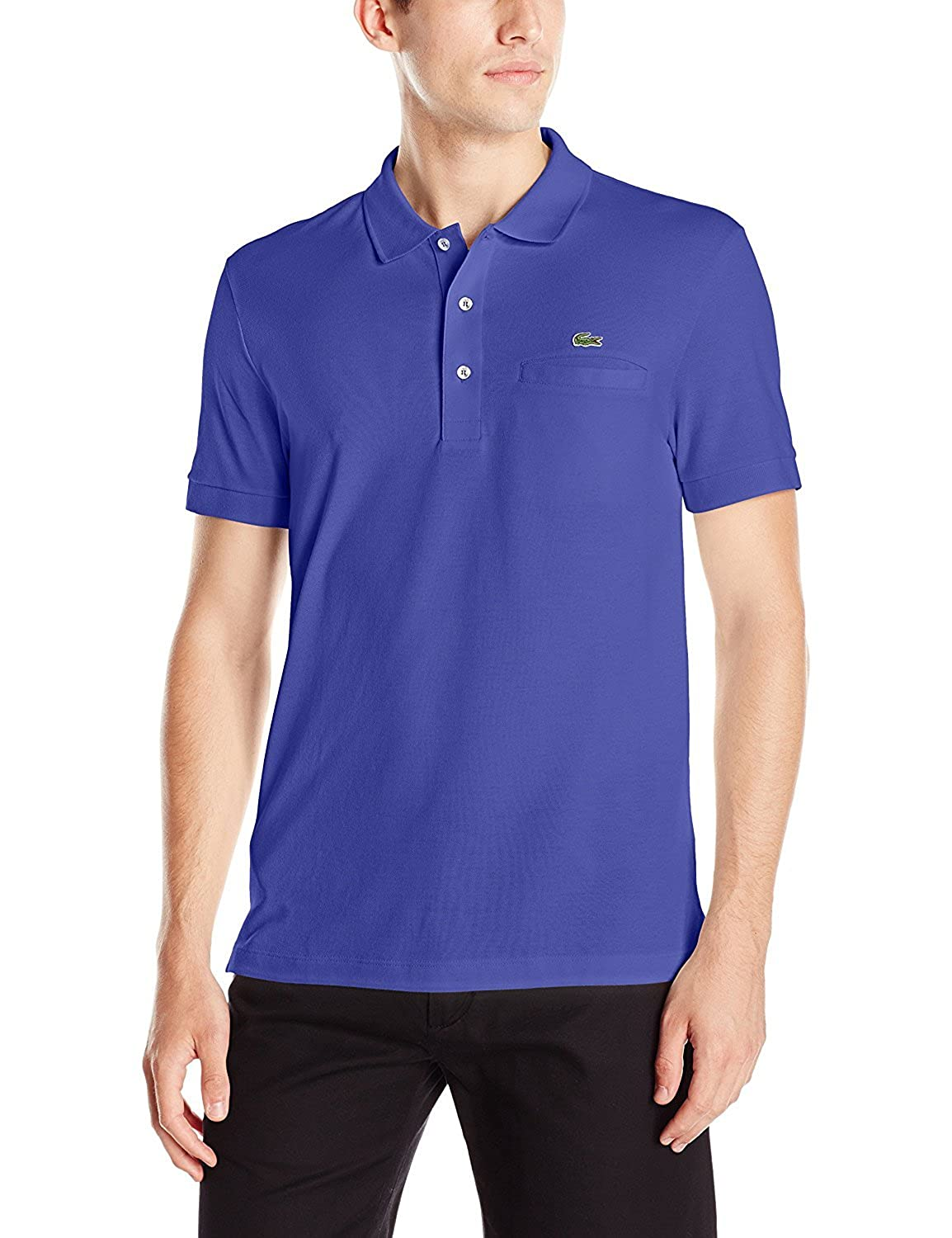 Lacoste Mens Short Sleeve Regular Fit Solid Polo with Pocket