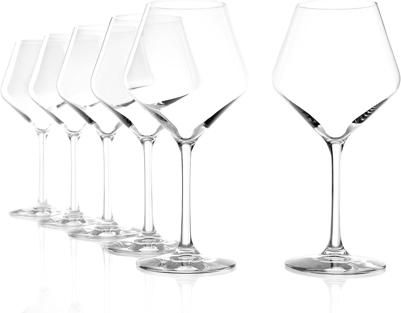 Copas Revolution tipo Borgoña de Stölzle Lausitz, de 545 ml, juego de 6, copas especiales para vino tinto, copas para vino tinto tipo balón con mucho carácter: Amazon.es: Hogar