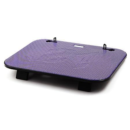 Amazon.com: eDealMax F3 HUB USB Para portátil Puerto silenciosa del radiador de enfriamiento del cojín w aficionados dobles de refrigeración púrpuras por 14 ...
