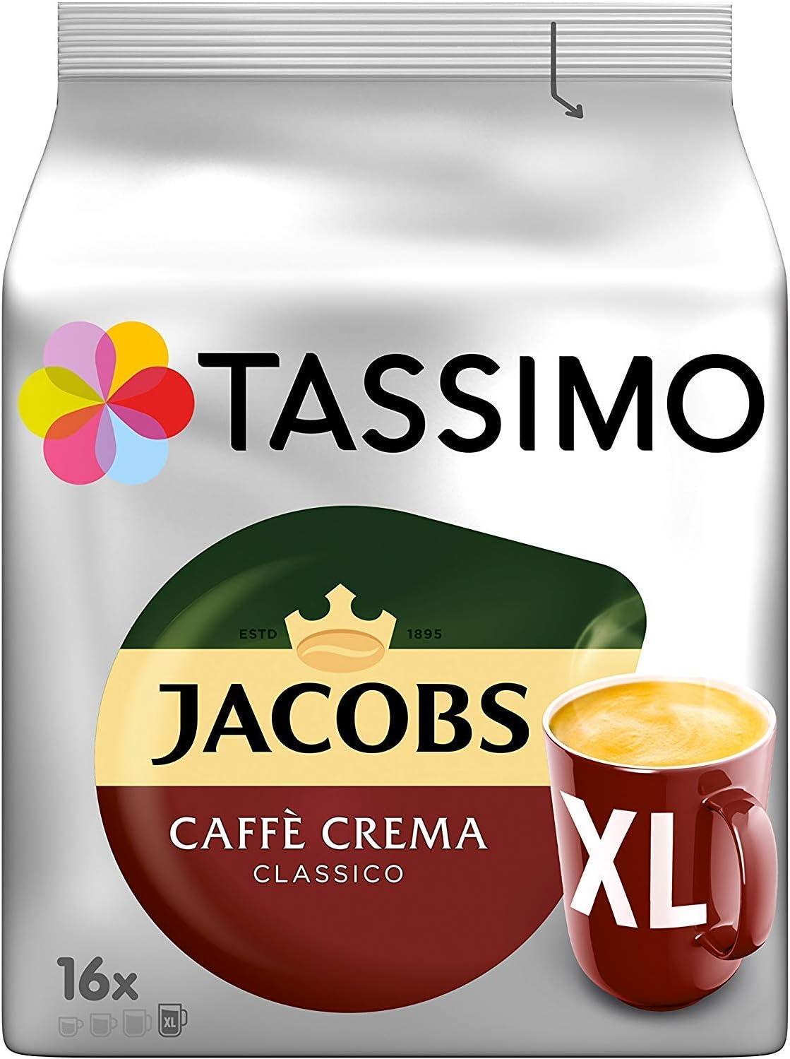Tassimo Jacobs Caffè Crema Classico XL - 5 Paquetes (80 Porciones ...