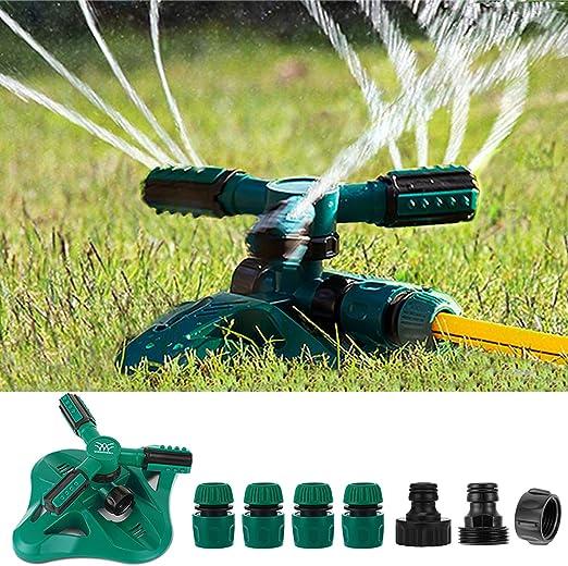 Girevole Cortile Prato MGRETT Sistema Irrigazione da Giardino Regolabile Giardino 360 /° Sistema Regolabile Irrigatore per Giardino