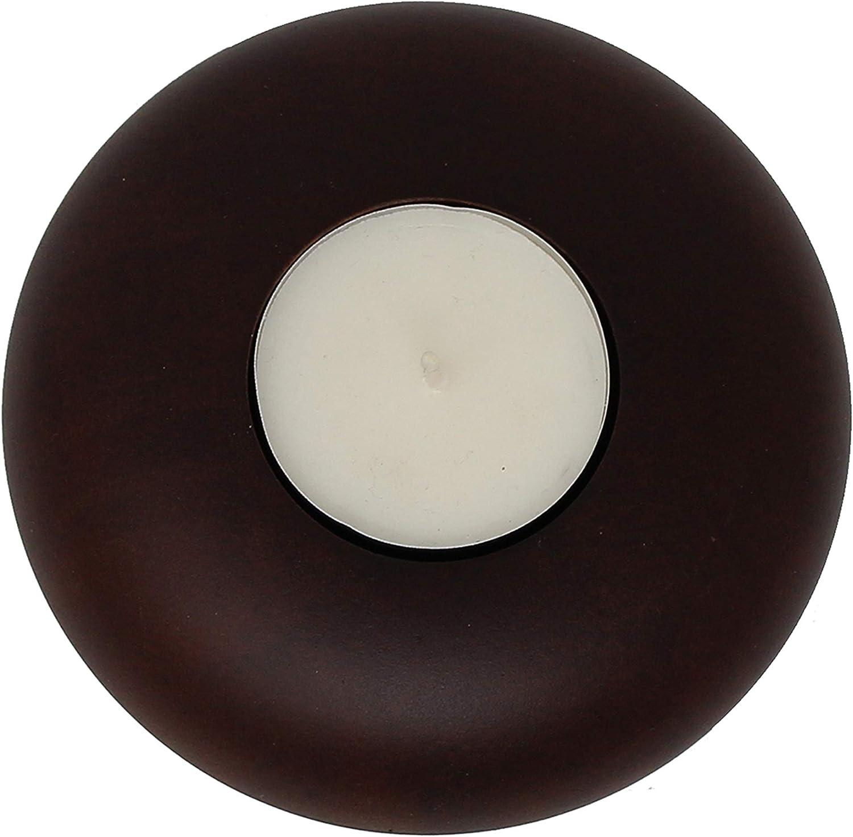 Trendy Wood /& Light Teelichthalter braun Kerzenhalter Teelicht Dekoartikel Holz Tischdekoration Kerze Kerzenst/änder braun