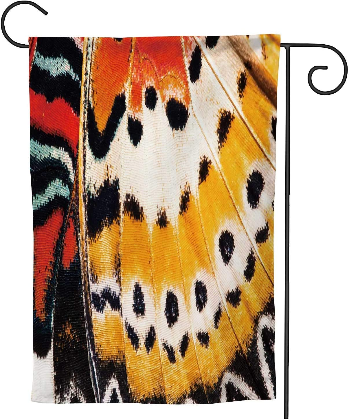 C COABALLA Leopard Lacewing Wing Texture -, Watercolor Garden Flag Double Sized, Rustic Yard Outdoor Decoration 28''x40''