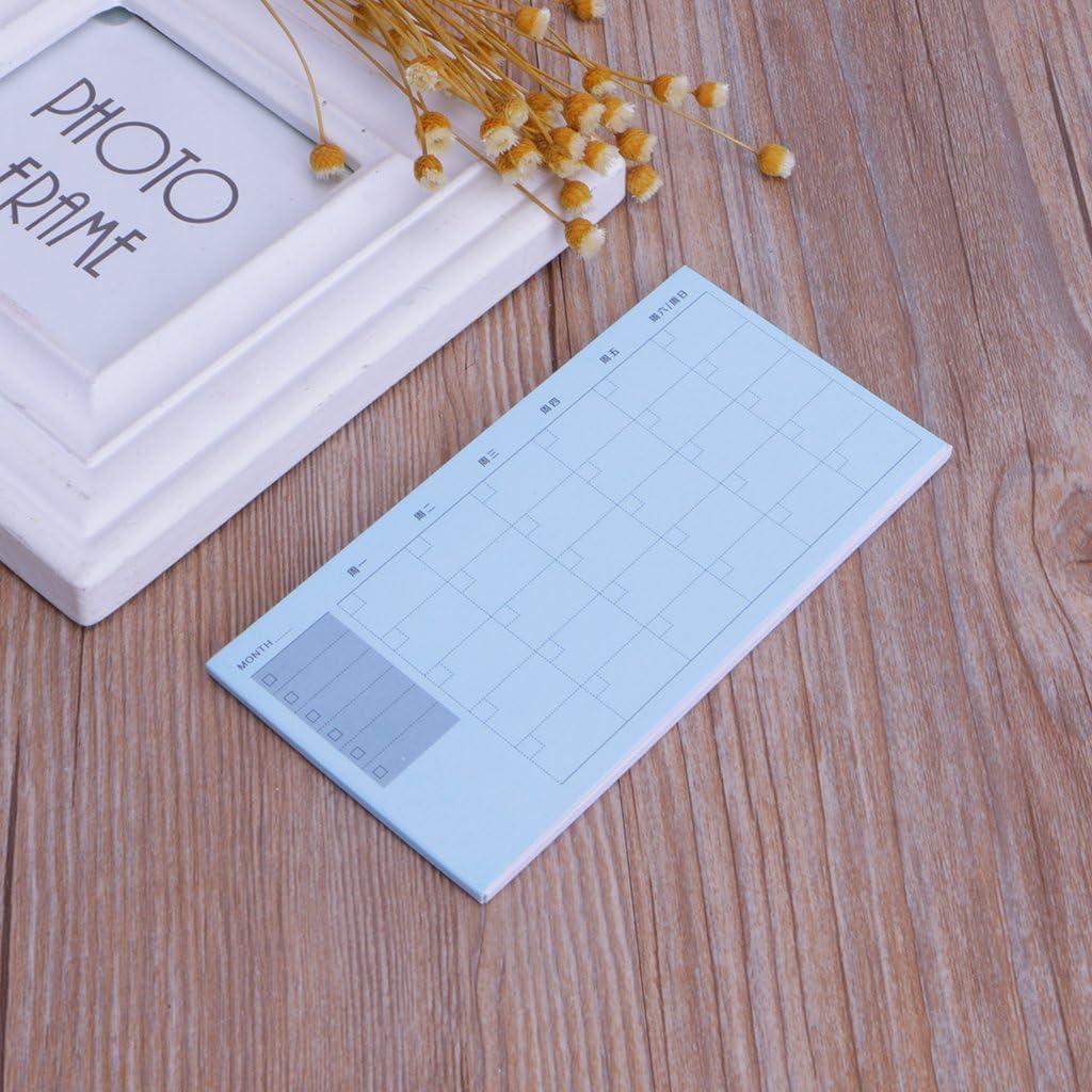 S-TROUBLE Inventario Semanal Diario Planificador mensual Cuadernos Bloc de Notas Adhesivas Calendario Memo
