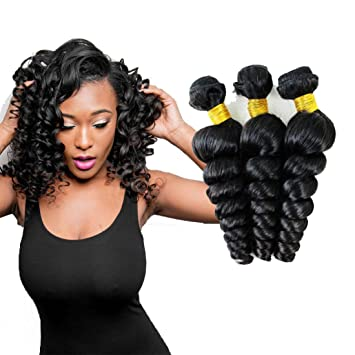 Ali Pearl Hair Long Length 28 30 32 34 36 38 40 Inches Brazilian Deep Wave Bundles 1 Piece Only Human Hair Remy Natural Color Hair Extensions & Wigs