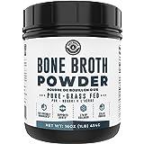 Bone Broth Powder - Grass Fed Bone Broth Powder with Protein [22g per Serving] and Collagen [17g per Serving]. Keto, Paleo, D