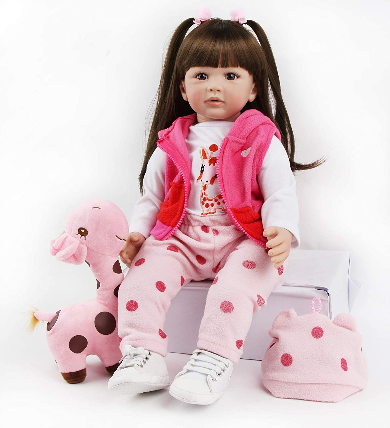 antboat Lovely 19inch 48cm Reborn Baby Dolls Girl Vinyl Soft Silicone Real Life