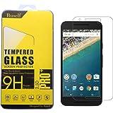 Nexus 5X ガラスフィルム,Buself ネクサス 5x ケース 気泡が抜ける/ラウンドエッジ加工/硬度9H 高鮮明・スクラッチ防止・ 最上級フィルム