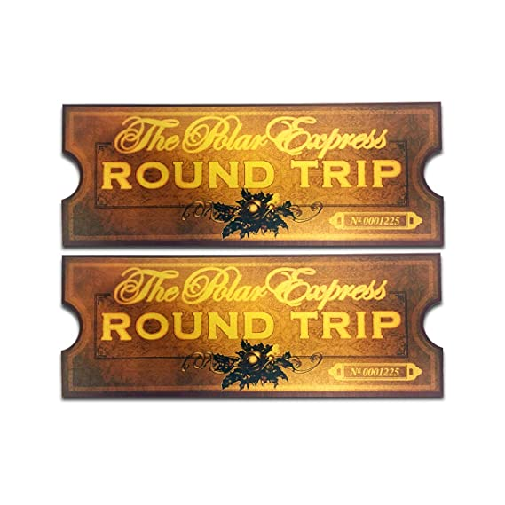 graphic about Polar Express Tickets Printable identified as LilyDeal Polar Convey Spherical Holiday Coach Ticket
