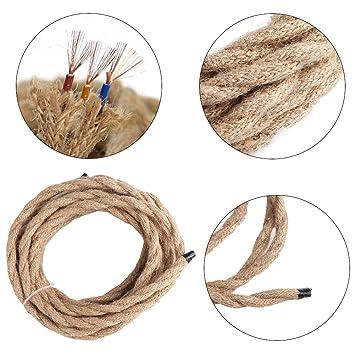 5 m Electrical Wire, 2 Core 3 Core Leinen geflochten Vintage ...