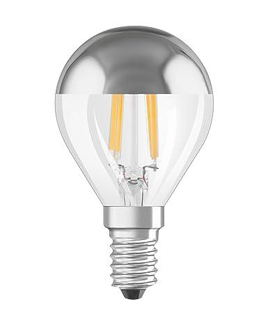 Osram 810433 Bombilla LED, 4 W, Blanco, Forma Esférica E14, 6 Unidades
