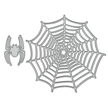 amazon com 2 pcs paper cutting dies halloween spider and spider