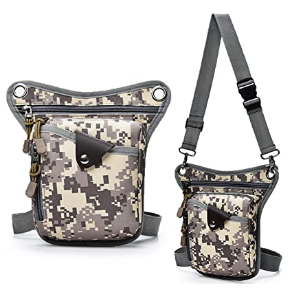 18e2a2a1e779 WalkingMan Drop Leg Waist Bag Tactical Military Thigh Hip Outdoor Pack for  Motorcycling Hiking Traveling Fishing Tool Pouch for Men Women Travel Fanny  Pack ...
