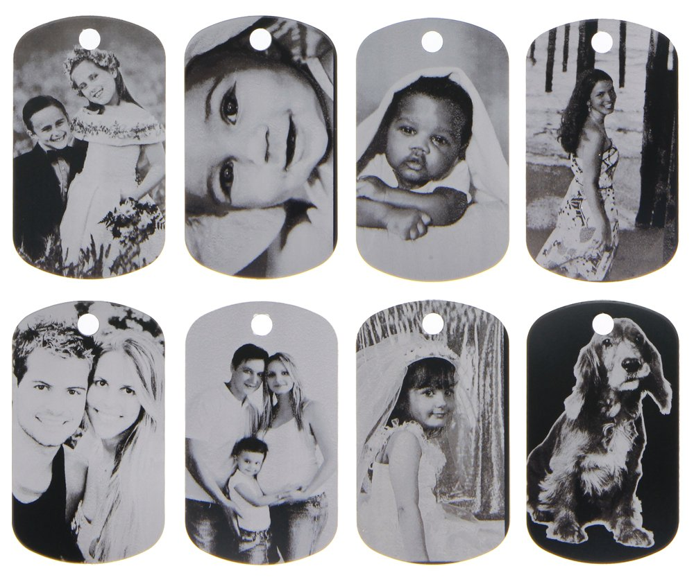 ElimL (TM) Aluminum Personalized Laser Photo Dog Tag Picture Pendant with 24 Inch Ball Chain by ElimL TM Design