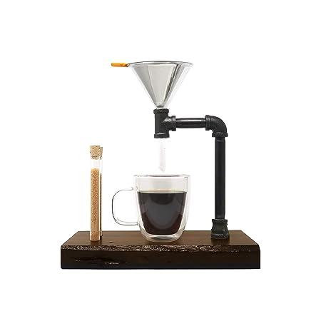 Kit de goteo de café - DIY de madera y acero para cafetera con ...