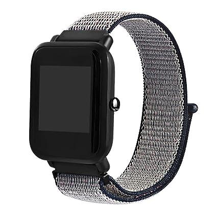 QHJ Reloj de pulsera para Xiaomi huami amazfit Bip, nailon Reloj ...