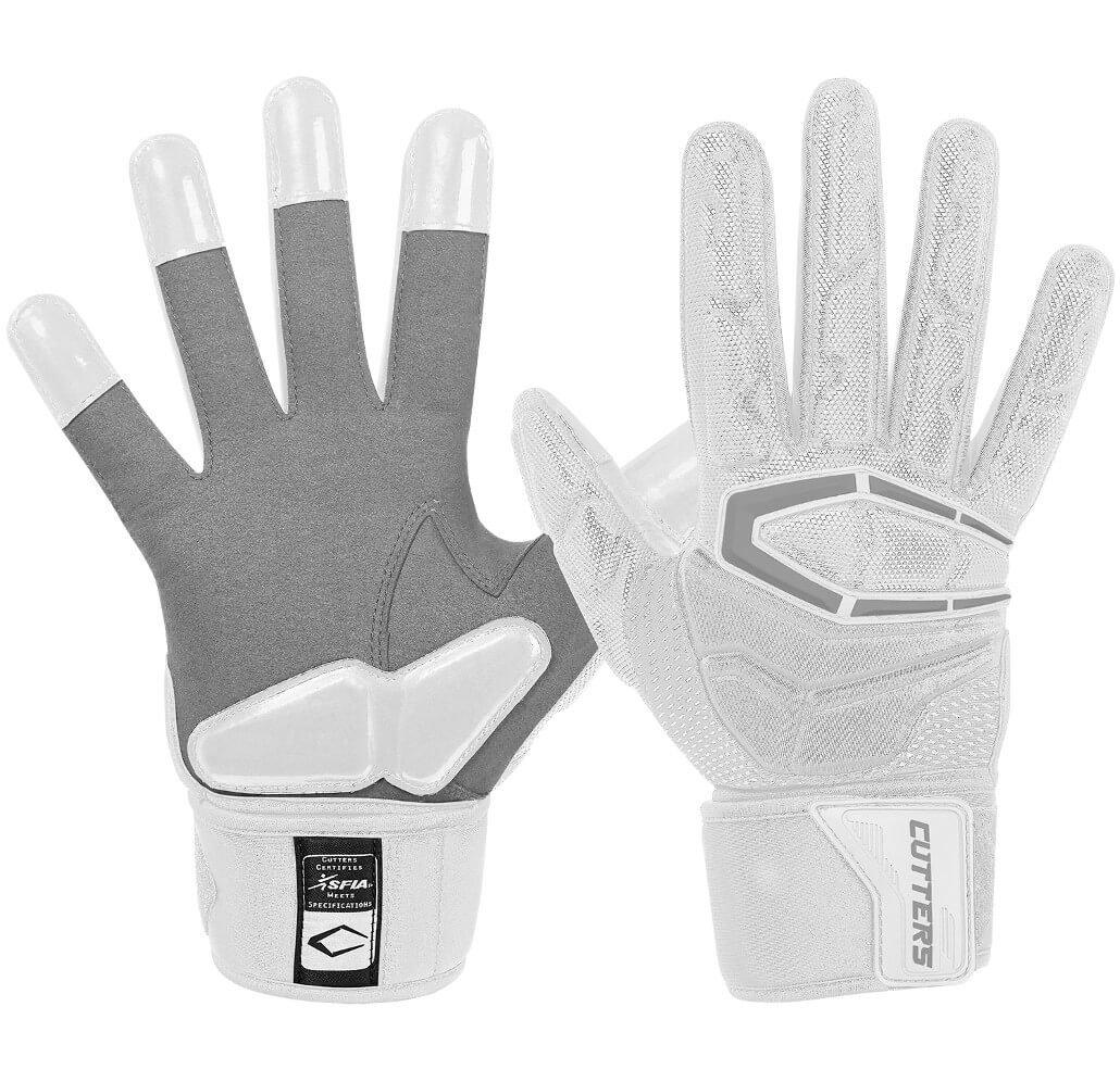 Cutters Gloves S932 Force 3.0 Lineman Gloves, White, Medium