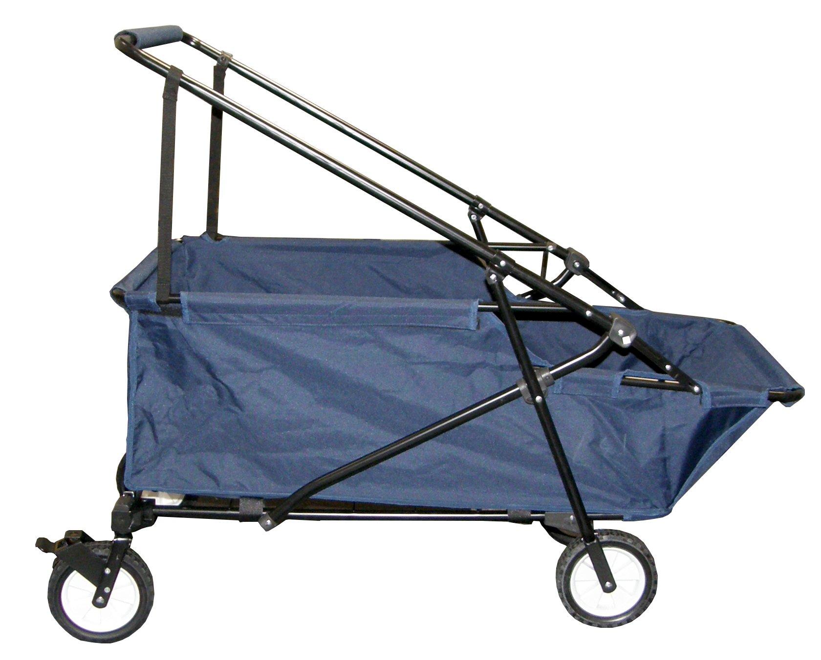 Impact Canopy Folding Utility Wagon, Collapsible, All Terrain Beach Wagon, Momentum, Navy Blue