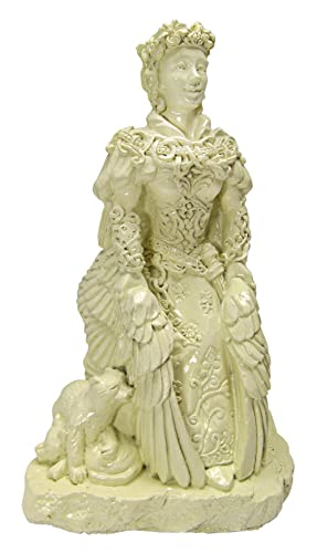 Dryad Design Small Norse Goddess Freya Statue Bone White Finish