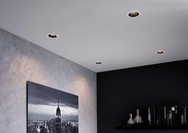 Silber Einbaulampe Kunststoff Paulmann 93408 LED Einbauleuchte Cole rund incl 19.5 W 3x6,5 Watt dimmbar Einbaustrahler Schwarz Alu Zink Deckenspot 2700 K