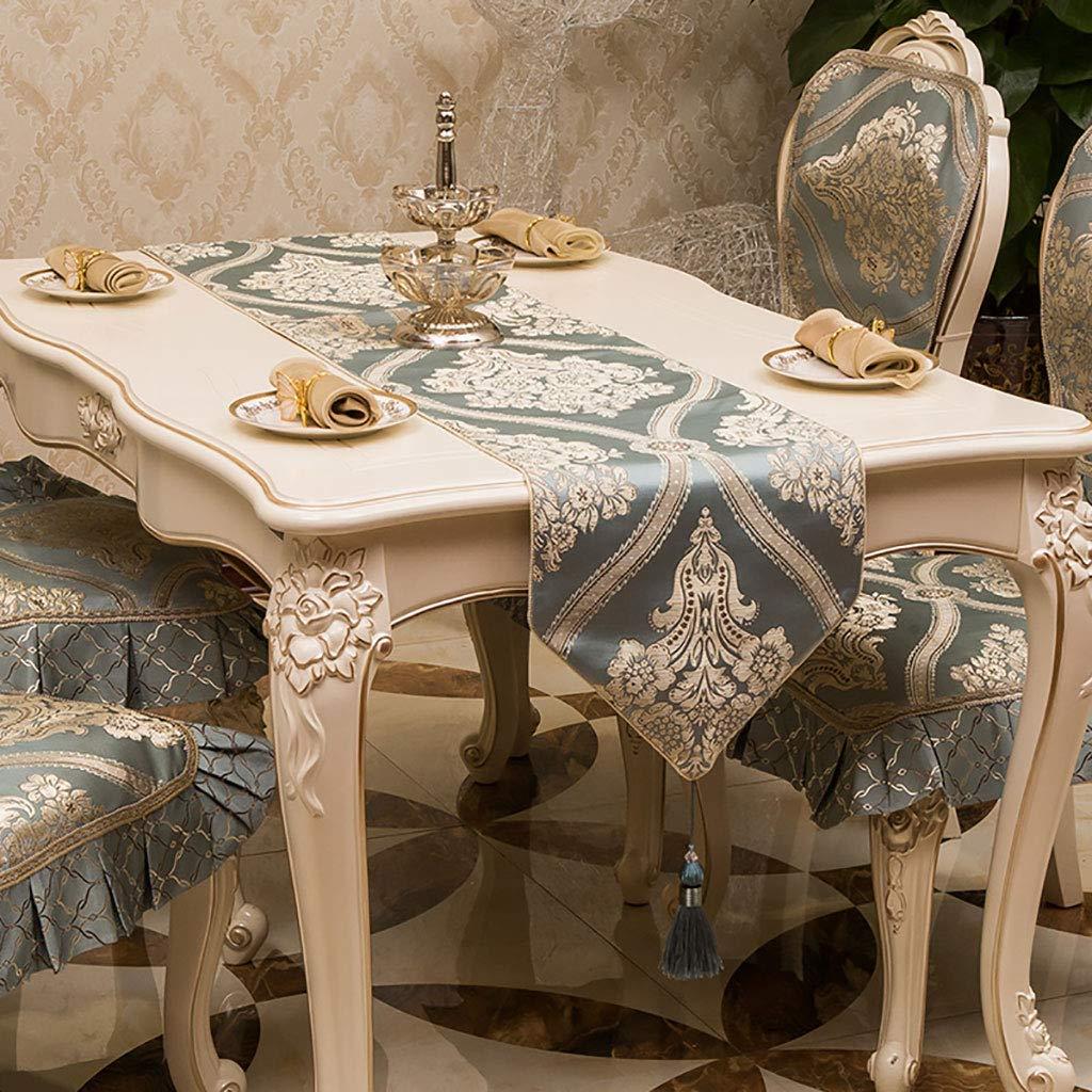 テーブルランナー、灰色の黄麻布のテーブルランナーしわのない、手作りのHemstitched天然長方形レーステーブルランナーベージュ(色:GREY、サイズ:35 * 260 cm) 35*260cm Gray B07SMWCC98
