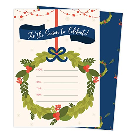 Navidad N º 1 Tarjeta De Invitación Para Fiestas De