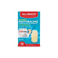 All Health Advanced Fast Healing Hydrocolloid Gel Bandages, Assorted Sizes, 12 ct | 2X Faster Healing for First Aid Blisters or Wound Care