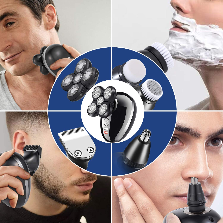 Electric Shaver Razor Beard Trimmer for Men, 5 In 1 Multi-Functional Grooming Kit