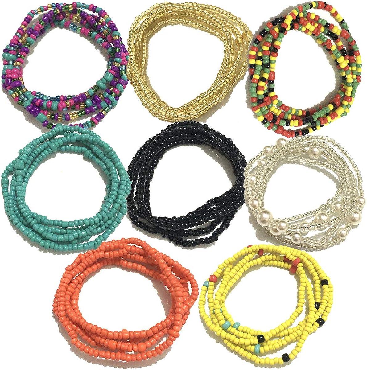 1x African waist beads Slim Figure Shaping Bikini// Belly Chain Fashion 27.5 Inch
