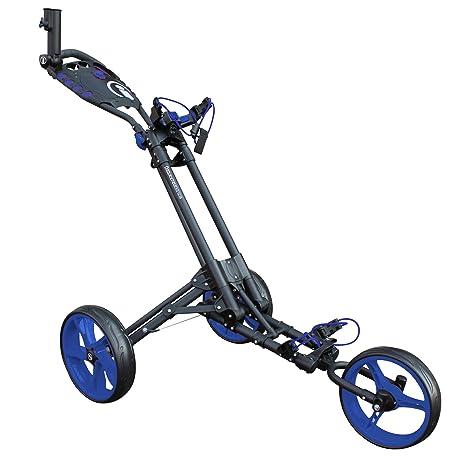 22d0f89ab3d0b2 Masters Golf - Icart Unica - 3 Ruote Unica Fare Clic Flessioni Trolley  Grigio/Blu