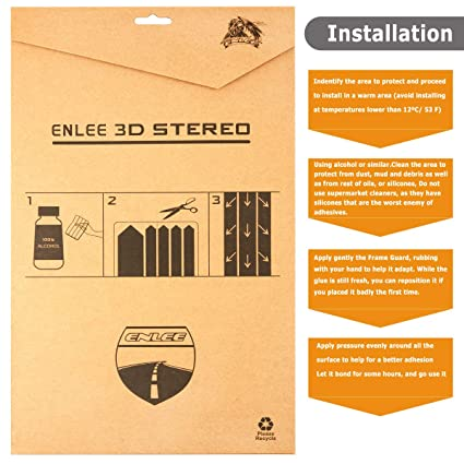 Enlee Bike Frame Guard High Impact PVC Protector Keep Your Bike from Scratches and Dings