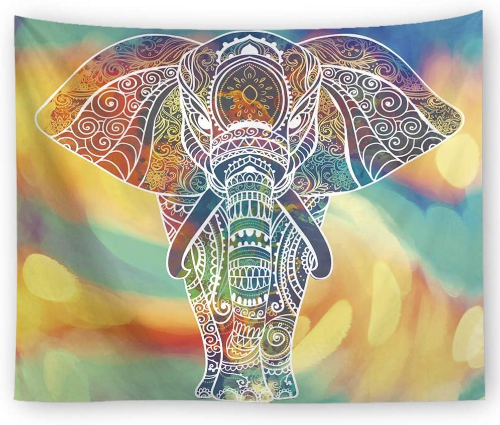 xkjymx Decoración de Elefante Tapiz multifunción Manta ...