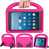 LEDNICEKER Kids Case for Fire HD 8 2018/2017 - Light Weight Shock Proof Handle Friendly Convertible Stand Kids Case for Fire HD 8 inch Display Tablet (7th & 8th Generation Tablet, 2017 & 2018 Release) - Magenta/Rose
