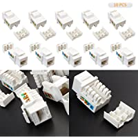 Leaning Tech 10 pcs CAT6 RJ45 Ethernet Module Punch de Down