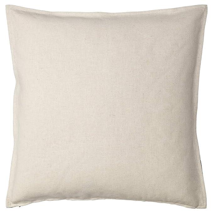 Amazon.com: IKEA ASIA Johanne Cushion Cover Natural Black ...