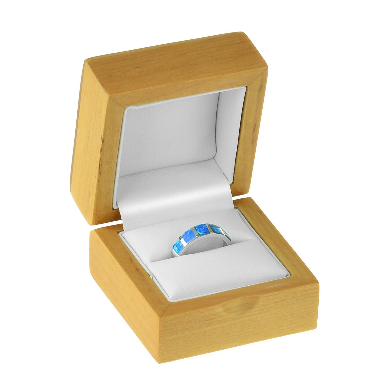 Geff House Maple Wood Ring Jewelry Gift Box