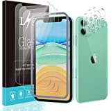 [3+3 Pack] LϟK for 3 Pack iPhone 11 Screen Protector with 3 Pack Camera Lens Protector, 6.1 inch [Tempered Glass] [Easy Insta
