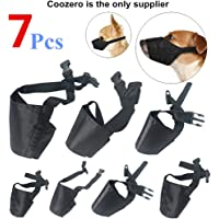Dog Muzzles Suit, 7 PCS Anti-Biting Barking Muzzles Adjustable Dog Mouth Cover for Small…