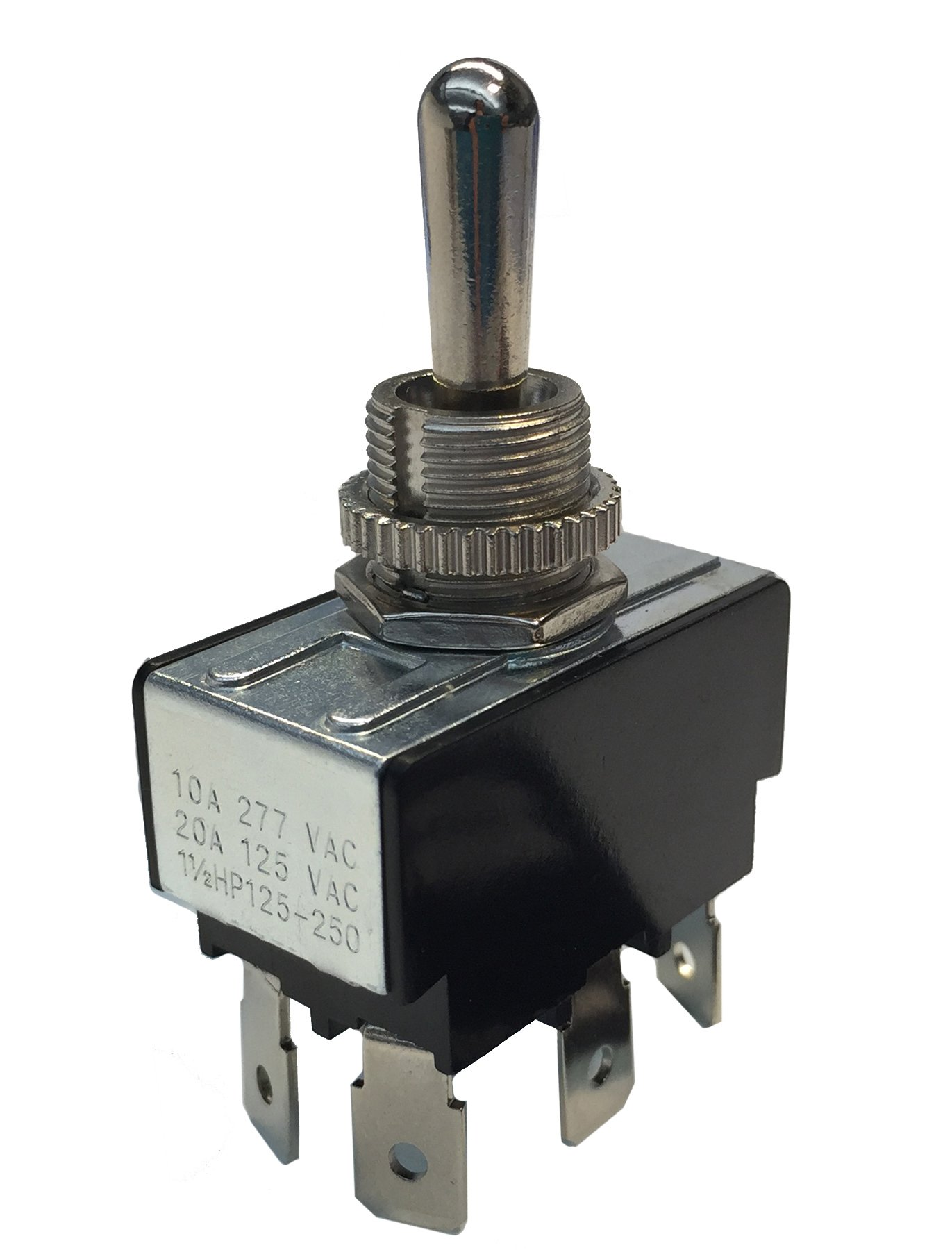 Gardner Bender GSW-126 Electrical Toggle Switch, DPDT, ON-OFF-ON 10 A/125V AC, O Ring Terminal